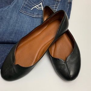 Lucky Brand Finora Black Leather Flats